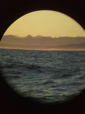 Through the binoculars