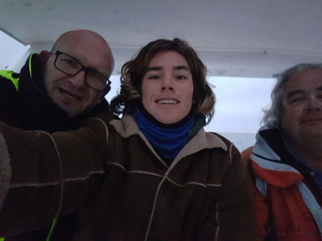 The crew - Achim, Dante and Siggi